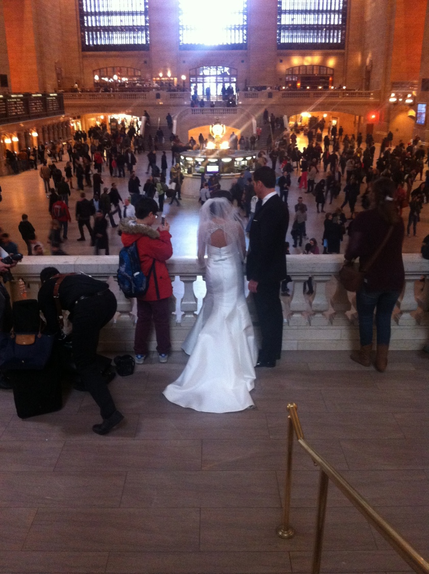 Wedding photos at Grand Central