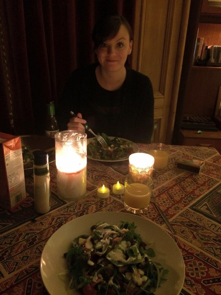 First dinner at our new house